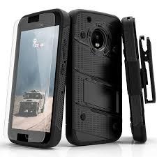 motorola 5g plus. zizo bolt case for motorola moto g5 plus-12 ft. military grade drop tested + glass screen protector 5g plus s
