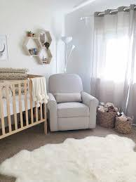 baby bedroom simple spring roost woodland nursery wood crib feathers blanket metal stand lamp curtain rattan