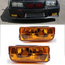 E36 Fog Light Lens Fog Lights Lamps Crystal Gray Lens For Bmw E36 3 Series 2 4dr All Models 1992 1998 Yellow