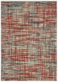 oriental weavers montage 5503x grey red area rug