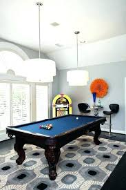 pool table rug rug under pool table a bold graphic blue and gray lays foundation for