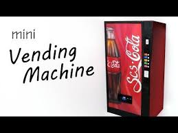 Miniature Vending Machine Stunning Miniature SodaDrink Vending Machine Paper Polymer Clay Tutorial