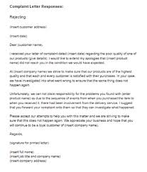 complaint letter response example rejecting just letter templates complaint letter reply rejecting fault