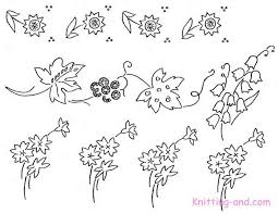 Small Picture Free Embroidery Pattern Small Floral Motifs c1930