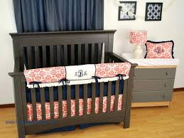 c damask print with a navy polka dot crib sheet and monogram on the personalized bedding like this item personalized crib bedding
