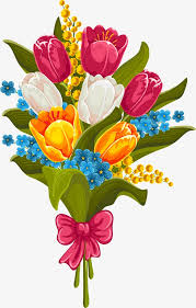 beautiful bouquet of tulips vector material flowers bouquet vector png and vector