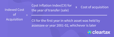 cost inflation index overview calculation benifits