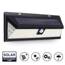 modern outdoor sensor wall lights. waterproof 80 led solar powered wall light \u2013 motion sensor modern outdoor lights