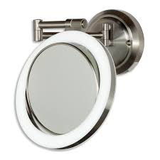 zadro dual sided surround light swivel wall mount mirror 1x 10x view detailed images 4