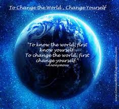 Quotes About Changing Yourself Magnificent WorldChangeToChangeTheWorldChangeYourselfQuotePQ4848
