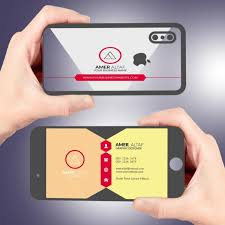 Iphone Business Card Latest Visiting Card Design Psd Free Template