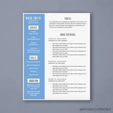 Free Resume Print And Download Word Resume Template With Blue Sidebar Modern Resume