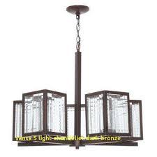 sansa 5 light chandelier dark bronze elegant industrial chandeliers lighting the home depot