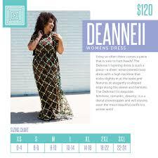 Deanne Skirt Size Chart Womens Lularoe Deanne Ii Dress Size Chart Including 2018
