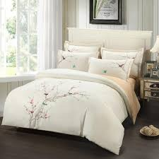 bedding with birds design great embroidery plum tree magpie cotton bird sets 2018 home ideas