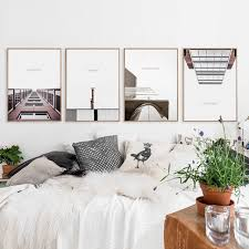 07g modern nordic building a4 a3 a2 canvas painting print picture poster wall art office living on wall art for office building with 07g modern nordic building a4 a3 a2 canvas painting print picture