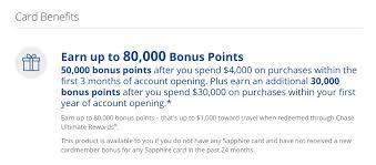 bonus offers for the chase sapphire preferred card