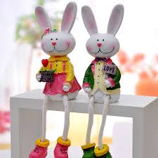 Rabbit Decorative Accessories decorative rabbits miniature fairy figurines home decoration 2
