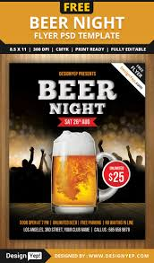 30 restaurant and food menu flyer templates designyep beer night flyer psd template
