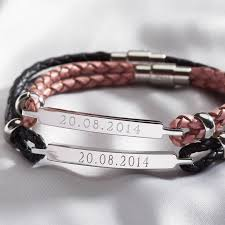 his and hers personalised identity bracelets