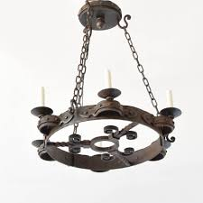 hand forged vintage french iron chandelier