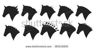draft horse head silhouette. Beautiful Draft Vector Set Of Horse Head Silhouette Inside Draft Horse Head Silhouette F