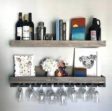 floating wine rack shelves wall mounted wooden wine rack and glass floating wine rack shelves long