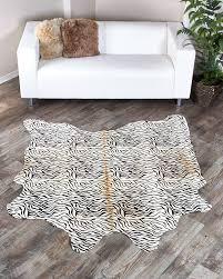 baby zebra print cowhide rug special