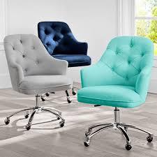 Teenage desk furniture Faux Fur Null Pbteen Twill Tufted Desk Chair Pbteen