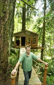 pete nelson s tree houses. TreeHouse Workshop Co-owner Pete Nelson Stands In Front Of One The Treehouses Built S Tree Houses
