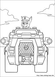 Paw Patrol Coloring Pages Chase Car