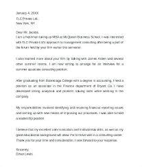 Sample Cover Letter For Management Consulting Internship Summer