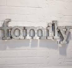family decoration metal wall art letters alphabet words home display unique cheap diy