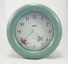 michael graves for alessi kitchen clock 10 az wall clock light blue series