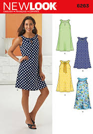 A Line Dress Pattern Awesome New Look 48 Misses' A Line Dress