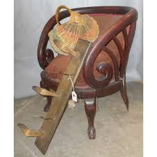 Coat Rack Chair Vintage deer hoof coat rack a large splint melon basket and an 85