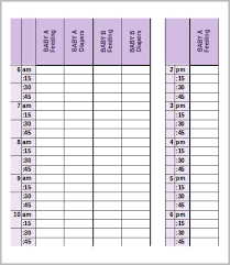 Baby Schedule 7 Free Word Excel Pdf Documents Download