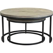 Aurelle Home Industrial Round Nesting Coffee Tables Set Of 2
