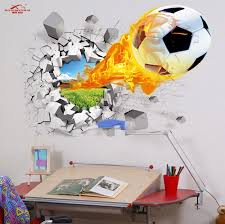 3d diy football sports wall sticker easy remove decorative wall stick armchair background decorative painting wall stickers in wallpapers from home