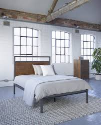 industrial style bedroom furniture. Baxter Square Bed - Industrial Warehouse Vintage Style Bedroom Furniture From Lombok
