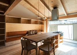 Plywood Interiors Provide Compact Japanese House Storage Cozy - Japanese house interiors