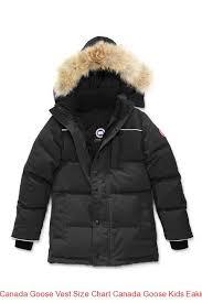 Canada Goose Vest Size Chart Canada Goose Kids Eakin Parka Black