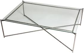 iris rectangle coffee table clear glass top image 2