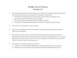 Bridges Out Of Poverty Background 1 Dr Ruby Payne Married A