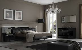 Interior Design, This Contemporary Bedroom Looks Resting And Calming Thanks  To The Gray Wall And