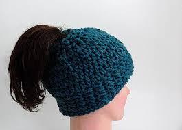 Free Crochet Ponytail Hat Pattern Simple 48 Crochet Messy Bun Hat Patterns