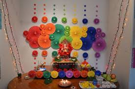 ganpati decoration in house images house interior