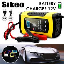 Full Automatic Car Battery Charger 110V To 220V To <b>12V 6A LCD</b> ...