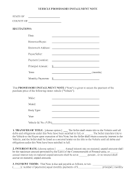 Form Promissory Note Promissory Note Template And Sample Form For Vehicle Installment 24