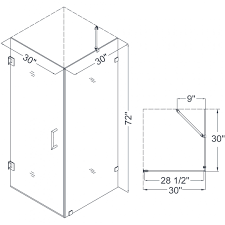 small shower stall dimensions